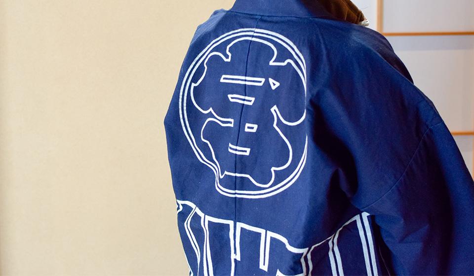 藍染被布コート01